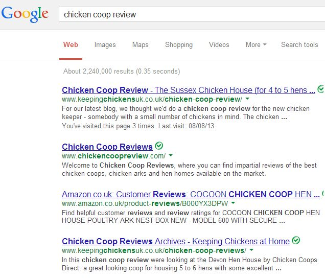 Advertise chicken coops at keepingchickensuk.co.uk