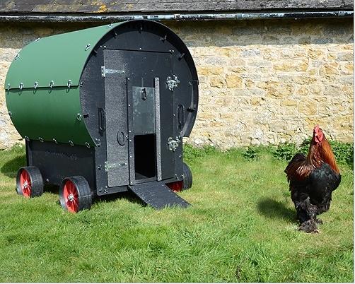 Green Garden Chickens Chicken Wagon
